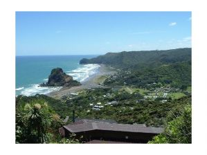 Piha Beach on NZ west coast