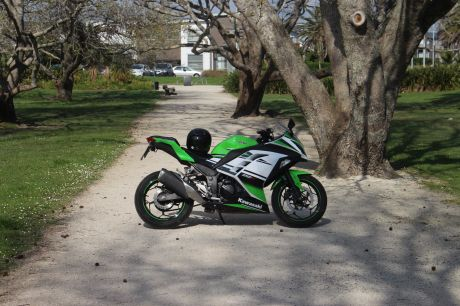 The Kawasaki Ninja 300 is fine for touring New Zealand