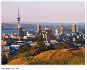 Auckland highest volcano and overlooking Auckland centre