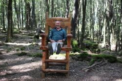 This is a hobbit chair in Fangorn Forest of Middle Earth by Glenorchy. See this by Vstrom.