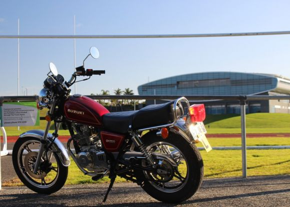 The Suzuki GN250 is the easiest road bike to ride and to learn to ride.